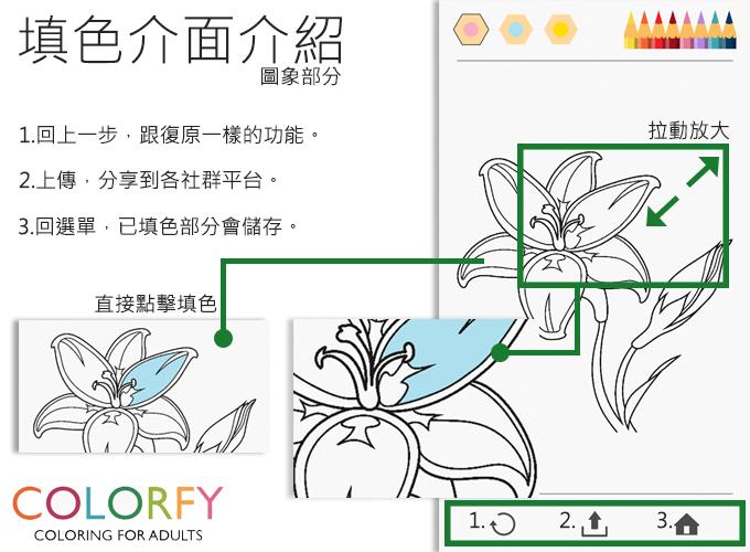 Colorfy填色介面介紹1